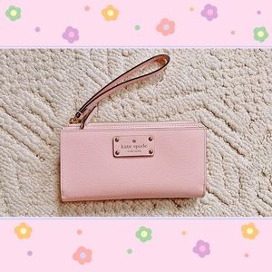 Kate Spade mini clutch wallet bag pink